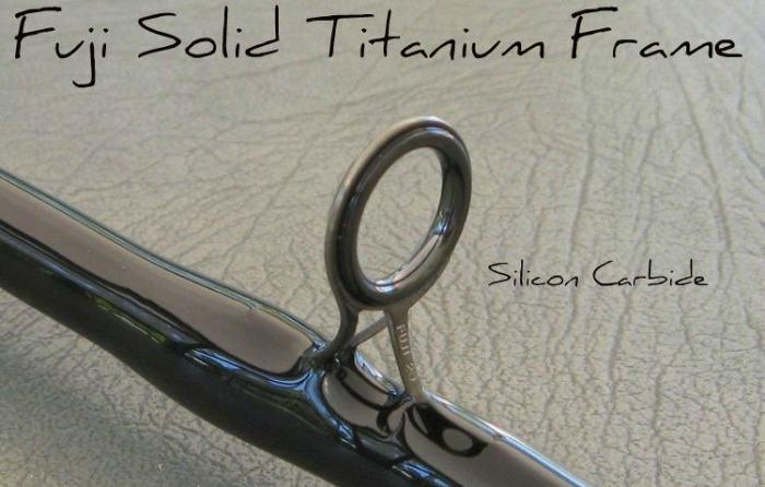 solid fuji titanium fishing rod frame