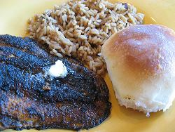 Blackened Cajun Catfish and Rice