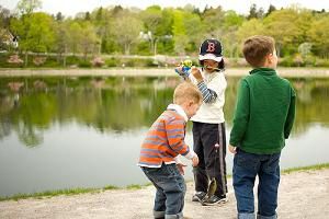 Bluegill Picture of 3 Liitle Kids Fishing