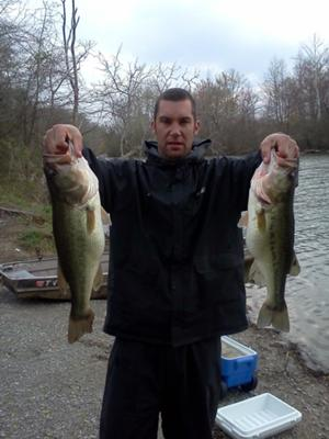 8.5 Pounder and a 5 Pound Largemouth Bass