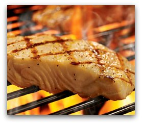 Grilling Fish, BBQ Barbecued Grilled Fish