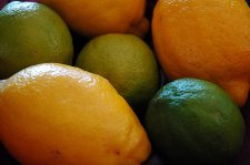 Lemons and limes used for marinating fish or meat.