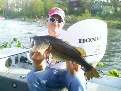 Largemouth Bass Caught at Pine Lake in Laporte, Indiana