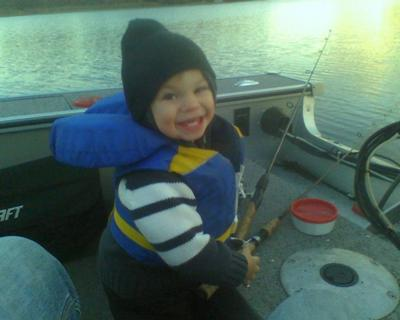 Little Hunter Fishing With Daddy