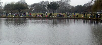 oak grove lake pond stocked with trout tournament