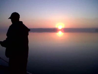 Rice Lake Sunrise - Jigging For Walleye